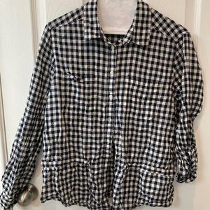 Cool Black and white button down shirt